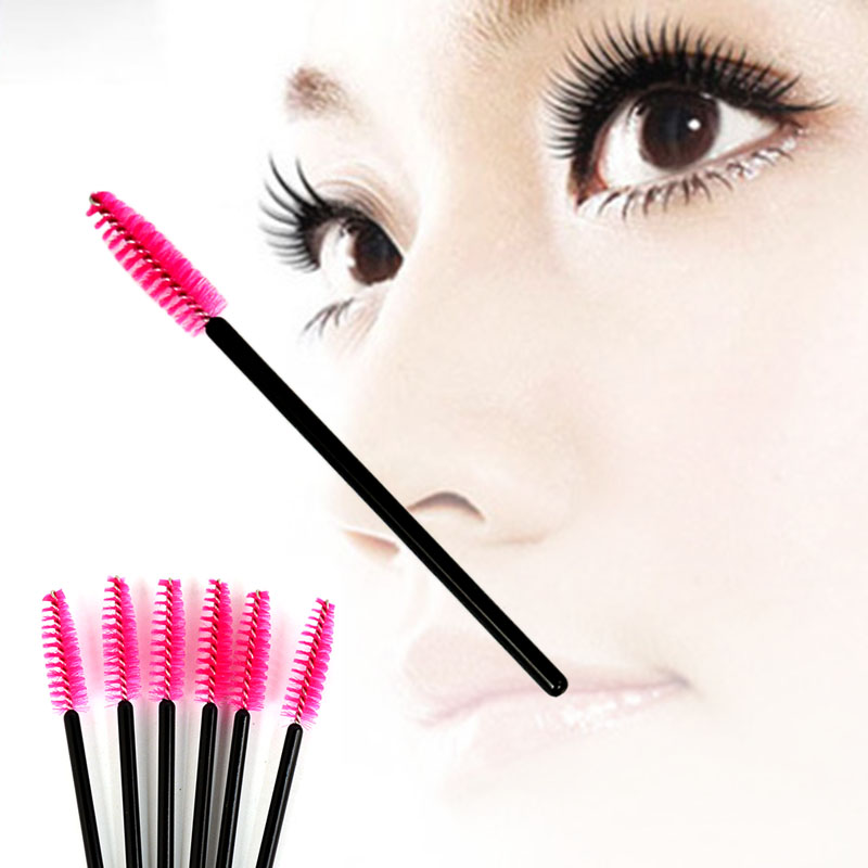 10pcs/lot New make up Pink Disposable Eyelash Brush Mascara Applicator Wand Brush