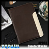 Unique design luxury custom cover case for ipad air with card slot and handheld