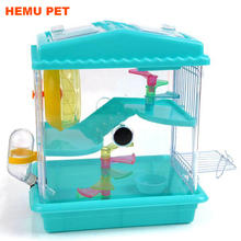 2017 hemu transparent animals hamster clear view house castle rat mouse cage acrylic pet cage