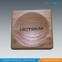 Factory Direct Custom Made Wood Serving Coin Display Tray With Laser Logo