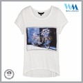 oem sevice Transparent printed short sleeve summer rayon colorful t-shirt