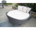 New Design Rattan Outdoor wicker garden classic Round Sunbed bedding