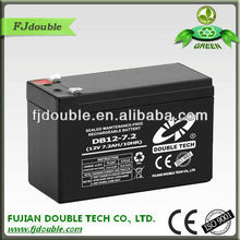 cheap maintenance free vrla replace battery 12v 7.2ah with CE,ISO