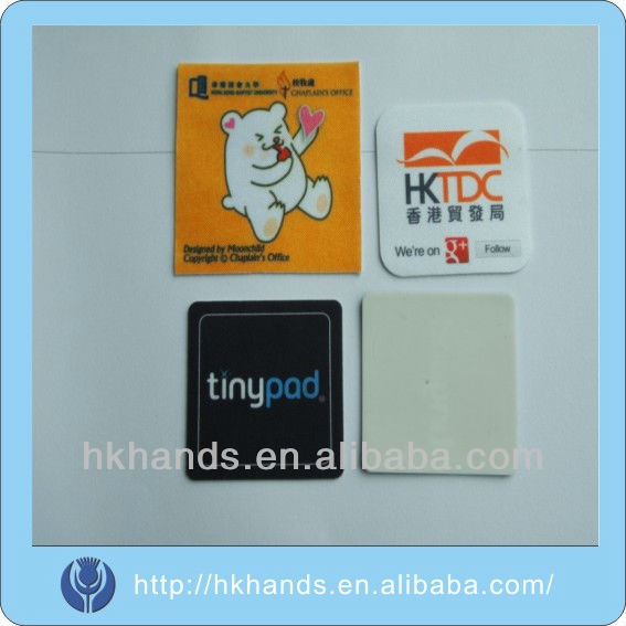 Any logo is available silicone mobile phone screen cleaner sticker