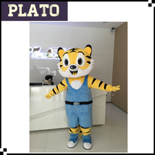 Life size walking adult tiger mascot for party with good ventilation unisex tiger mascot