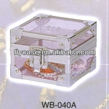 aluminum profile luxury stand up jewelry cases with safe lock