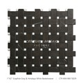 New Arrival Polished And Basket Weave Black Graphite Marble Stone
