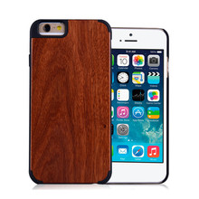 Mobile accessories laser engraving custom design Plastic wooden cell phone case wood case for iphone 6