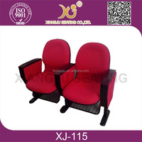 auditorium chair and desks/ hot sale auditorium chairs with writing table/fabric auditorium chairs