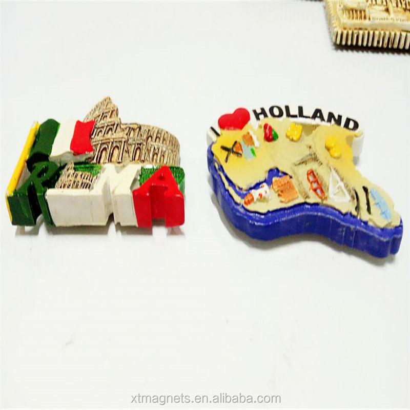 Wholesale Cheap 3D Resin Souvenir Magnet Promotional Gift Fridge Magnet