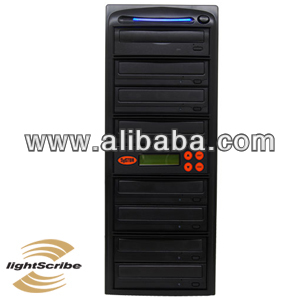 Systor 7 Burner LightScribe SATA 24X CD/DVD Duplicator w/ 500GB HDD & SMART USB Connection