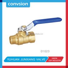 "JUNXIANG 1""high quality level handle forged brass ball valve"