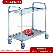 PRD-S2 Stainless Steel Food And Beverage Service Equipment Serving Hand Trolley