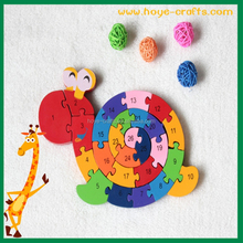 custom logo wooden puzzle land snail