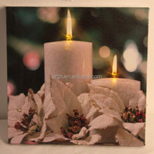 light up led canvas painting candles