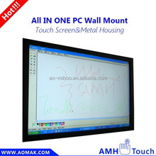 "55"" high quality wall mounted LCD TV, All in one pc with multi touch"