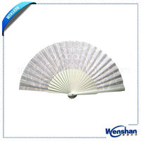 Varnished Spanish Wooden Hand Fan For Promotion