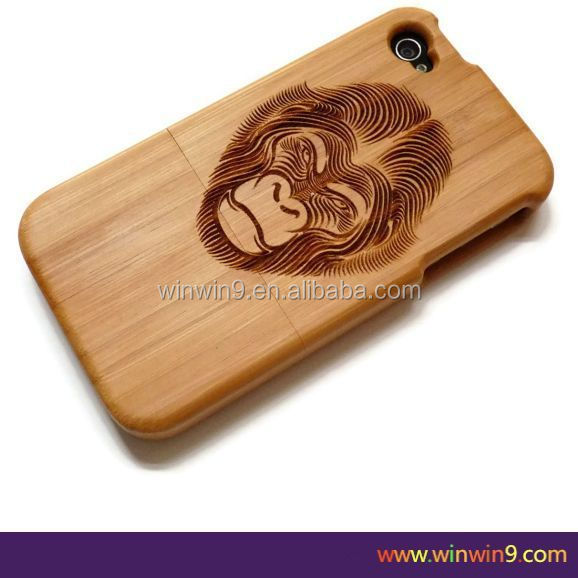 2015 Stylish wooden fashion design laser engraving smart phone case wood factory price animal shaped phone cases
