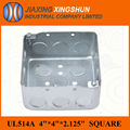 2014HOT 4x4 Square galvanized steel electrical deep tin box