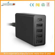 AC 100-250V Type C 5USB Quick Charge Wall Charger for New Macbook,Nokia N1,LeTV Phone