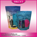 Plastic stand up cosmetic bag