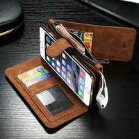 CaseMe 2015 new arrival unique bulk mobile phone cover cases for iPhone6S plus 2 in 1 wallet case