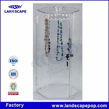 Theftproof acrylic jewelry showcase / gemstone display cases with lock