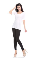 Ladies fashion t shirts above elbow sleeves