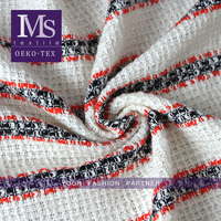 High quality polyester cotton wool fabrics, stripe polyester cotton rayon blend fabric for tweed coats