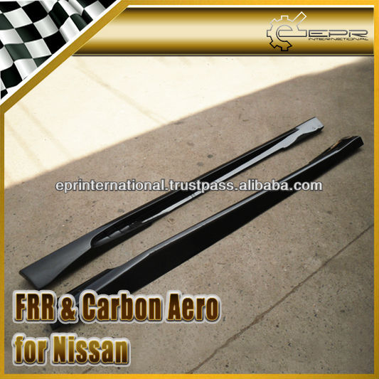 For Nissan R35 GTR GT-R WI Style Carbon Fiber Side Skirt Body Kits