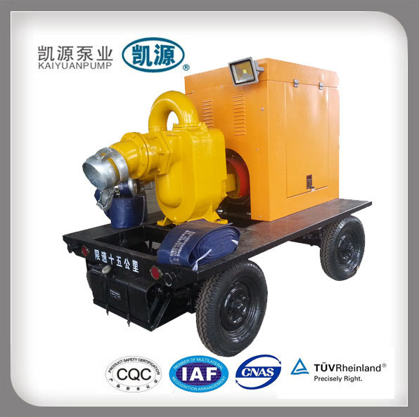 KYBC Hot Selling Trailer Mounted Self Priming Centrifugal Pump with Changsong Engine