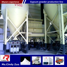 gypsum powder machine supplier/automatic plaster of paris production line