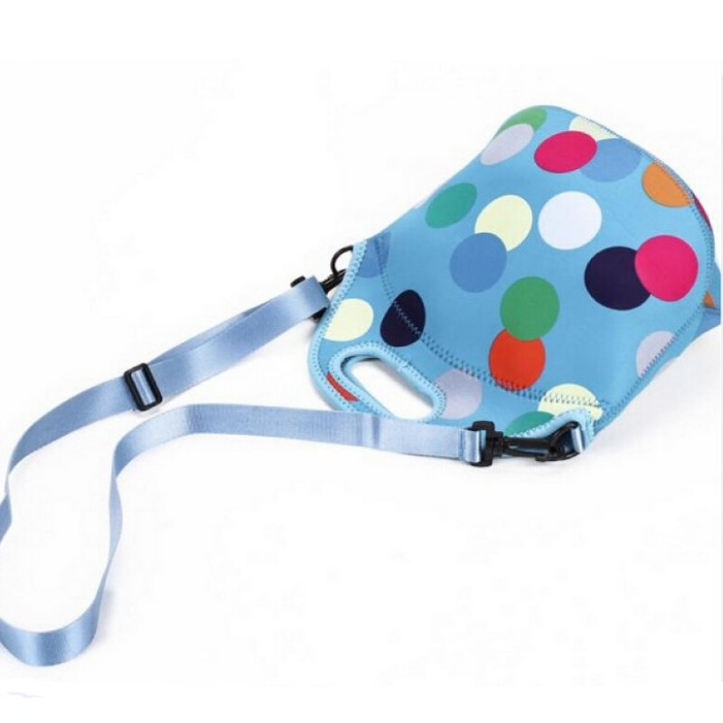 Promotional portable picnic insulated perforated neoprene bag for travelling