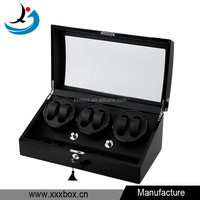 Luxury Wood Watch Winder Automatic Compartment 6+7 Leather Display Storage Box