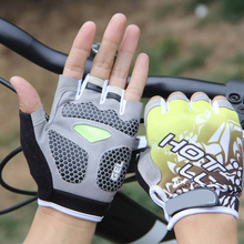 New Soft Lycra Half Finger Gloves Outdoor Sports Bike Bicycle Cycling Gym Gloves