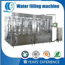 3 in 1 Automatic pure water filling machinery drinking water with washing,filling and capping bottling plant