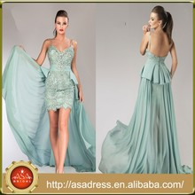 HTJ14 Newest Design Dubai Lady Maxi Party Gowns Wholesale Sheath Low Back Evening Dresses China with Train