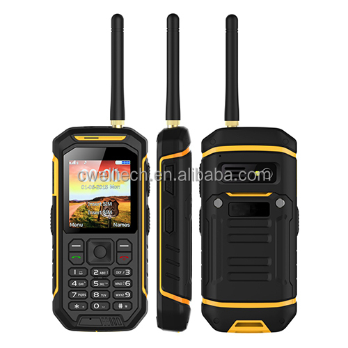 New Arrival Alps X6 Dual SIM Card IP68 Waterproof Rugged China Mobile Phone with UHF Walkie Talkie Function
