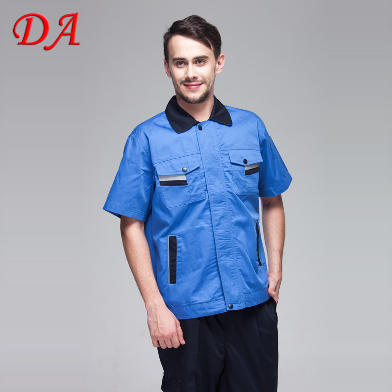 Heavy Cotton Twill Fabric Short Sleeves Work Shirts