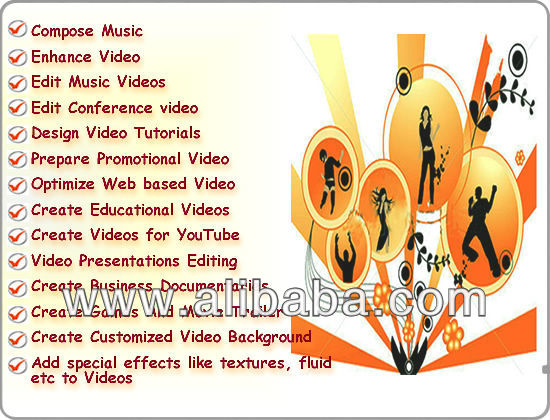 Video Editing Service, Games and Movie Trailer Making, Editing Video Presentations,Web based Video Optimization