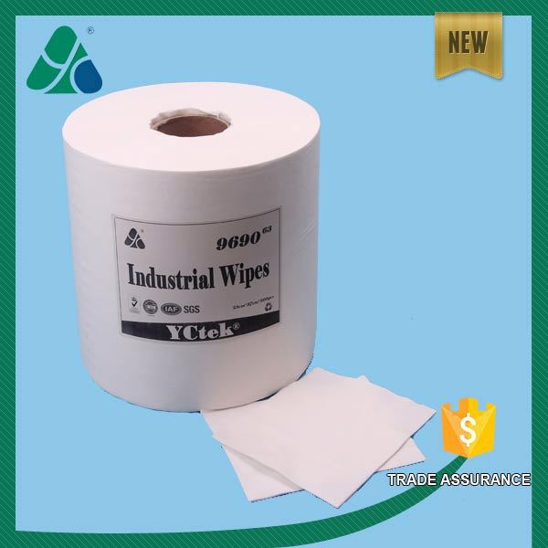Jumbo roll absorbent spunlaced non woven industrial wipe