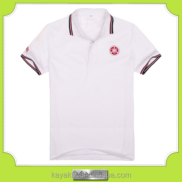 Kayak custom made dry fit polyester plain white golf t-shirts