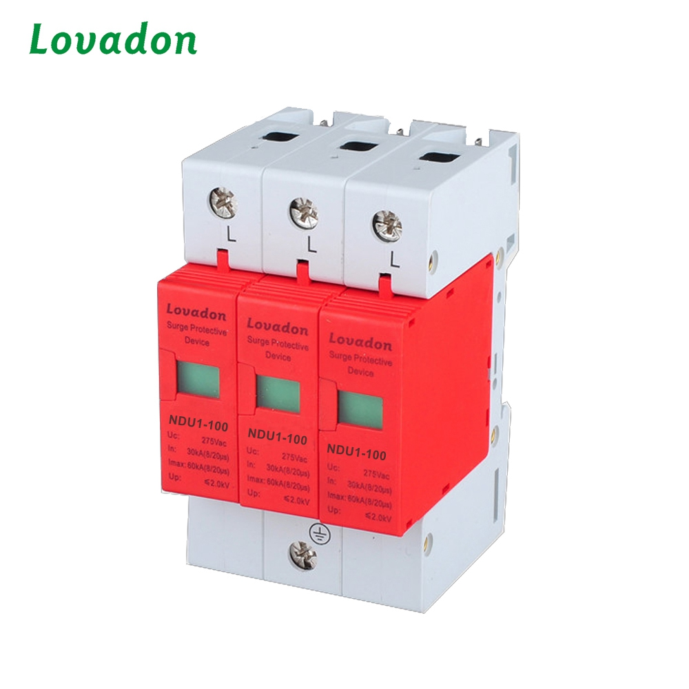 Power supply equipment 3 poles 10KA-100KA NDU1-100 Surge Protection Device