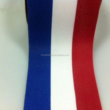 Supply kinds of flag ribbon for medal grosgrain flag ribon in big size 2 3 4 inch