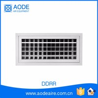 Aluminium air register with removeable core, DDRR double deflection rectangular door grille and register, round for hvac system