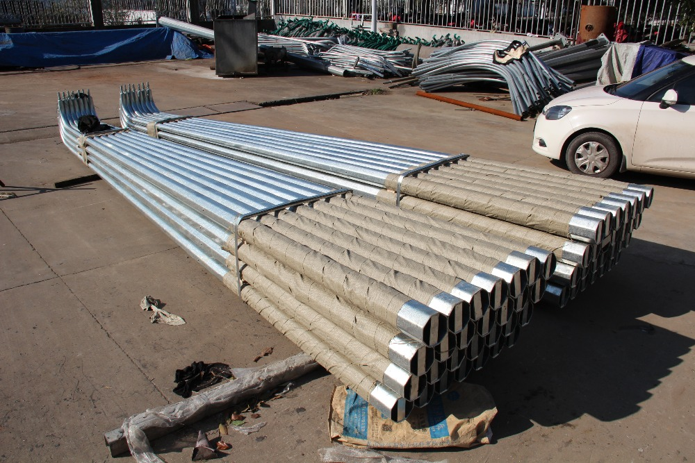 4x4 galvanized square metal fence posts hot dipped galvanized steel pipe price