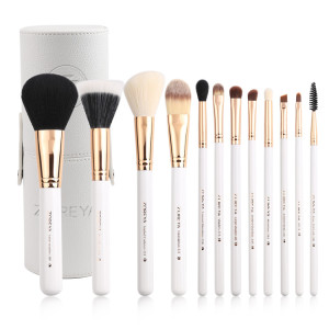Professional private label cosmetic brush 12 piece makeup brush set