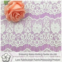 Eyelash off white high quality african cord nylon with cotton lace fabric