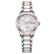 OEM stainless steel ceramic Automatic Mechanical fancy ladys Watch