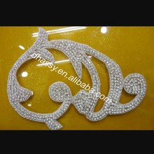 Wholesale price sliver beaded crystal rhinestone applique _fashion ladies shoe buckles for high heels decoration